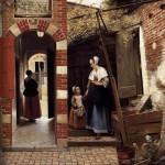 """DE HOOCH """"la cour d'1 maison de Delft"""" 1658"""