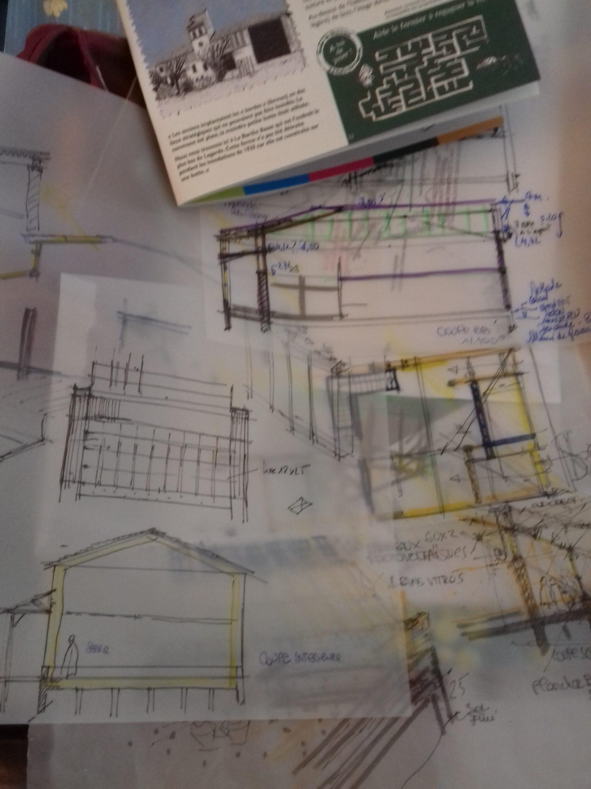 Affichage esquisse Tortelier E.Architecte DPLG 8 h dessiner l'urbain